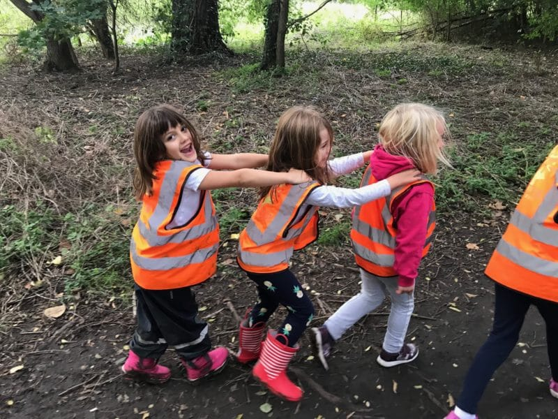 Wild About Play Forest School After School Putney Walking with Friends through the Common
