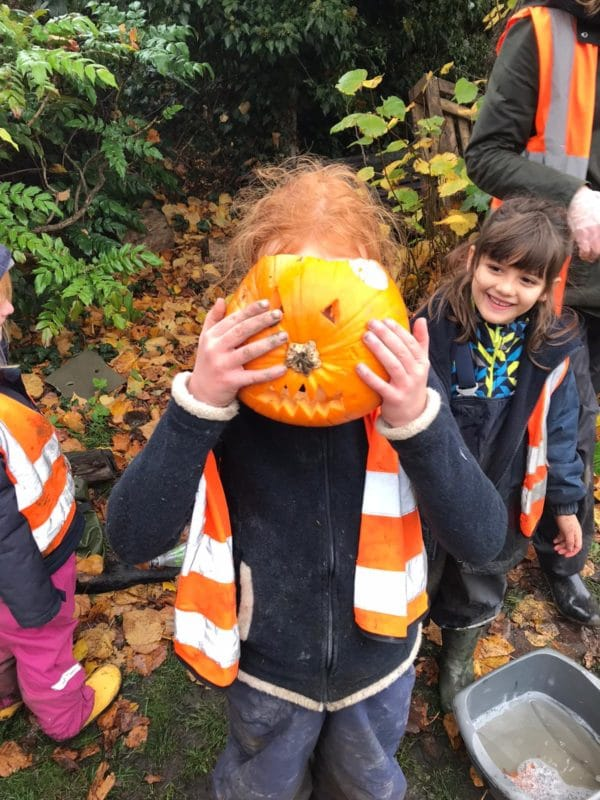 Wild about Play Forest School Holiday Camps Putney Fun with Carving Safely with Friends Creative Fun