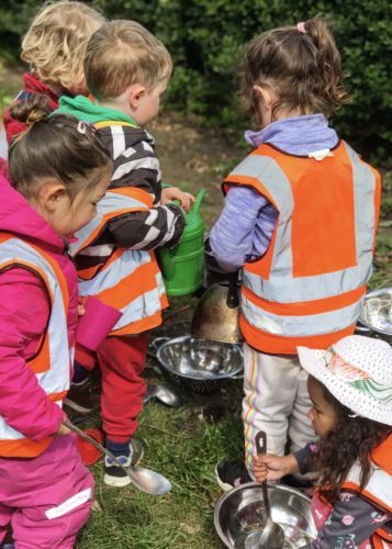 Forest Nursery Outdoor Learning Wild about Play Putney September Mud Kitchen Outdoor Imagination