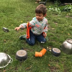 wild about play outdoor play learning forest school nursery imaginative play musical instruments