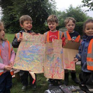outdoor art forest school nursery