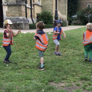children dancing outdoor nursery forest school wap wild about play putney