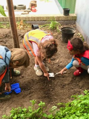 Children Digging Wild about Play Outdoor Nursery Forest School