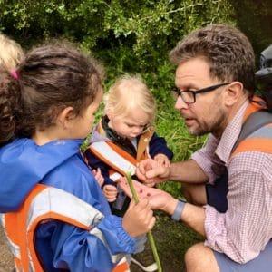 Children find Haw Berry Seeds